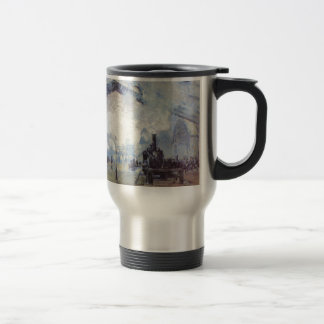 Claude Monet Train Station Popular Vintage Art Travel Mug