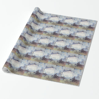 Claude Monet Train Station Popular Vintage Art Wrapping Paper