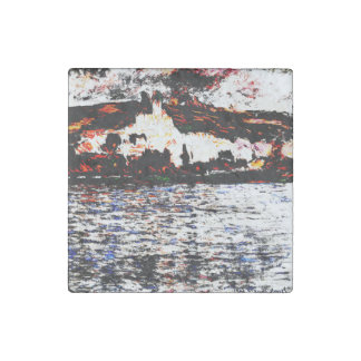 Claude Monet - Vétheuil Stone Magnets