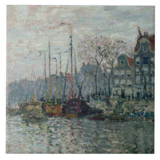 Claude Monet - View of the Prins Hendrikkade Ceramic Tile