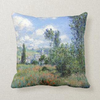 Claude Monet View of Vétheuil Throw Pillow