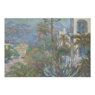 Claude Monet - Villas at Bordighera Poster