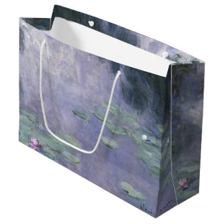 Claude Monet Water Lilies 1907 Nymphéas GalleryHD Large Gift Bag