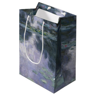 Claude Monet Water Lilies 1907 Nymphéas GalleryHD Medium Gift Bag