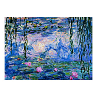 Claude Monet - Water Lilies, 1919 Poster