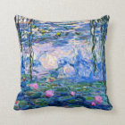 Claude Monet - Water Lilies, 1919 Throw Pillow
