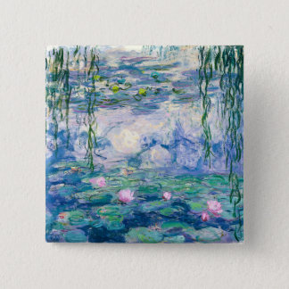 CLAUDE MONET - Water lilies 2 Inch Square Button