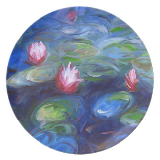 Claude Monet: Water Lilies 2 Plate