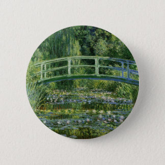 Claude Monet Water Lilies and Japanese Bridge 2 Inch Round Button
