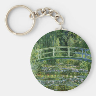 Claude Monet Water Lilies and Japanese Bridge Keychain