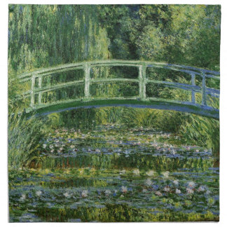 Claude Monet Water Lilies and Japanese Bridge Napkin