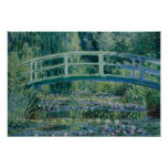 Claude Monet - Water Lilies and Japanese Bridge Poster