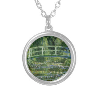 Claude Monet Water Lilies and Japanese Bridge Silver Plated Necklace