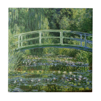 Claude Monet Water Lilies and Japanese Bridge Tile