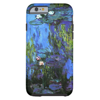 Claude Monet: Water-Lilies, blue indigo Tough iPhone 6 Case