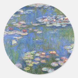 Claude Monet // Water Lilies Classic Round Sticker