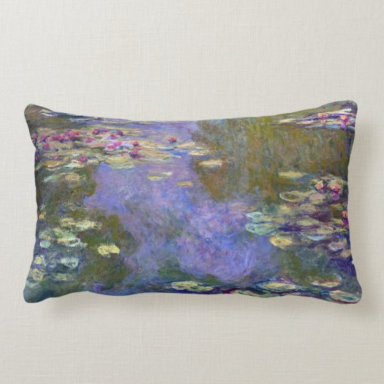 Claude Monet Water Lilies Lumbar Pillow