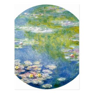 Claude Monet Water-Lilies Nymph?as 1908 Technique  Postcard