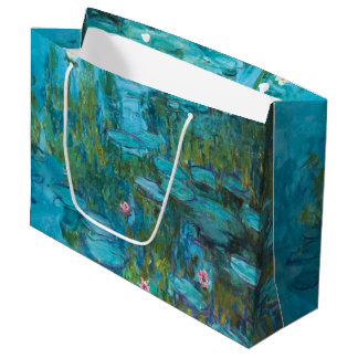 Claude Monet Water Lilies Nymphéas GalleryHD Art Large Gift Bag