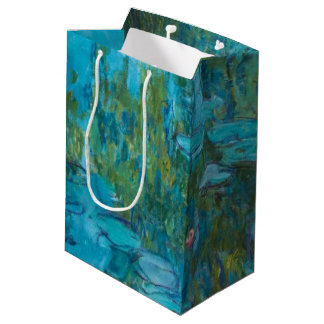 Claude Monet Water Lilies Nymphéas GalleryHD Art Medium Gift Bag