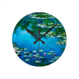 Claude Monet-Water-Lilies Round Clock