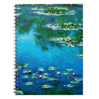 Claude Monet-Water-Lilies Spiral Notebook