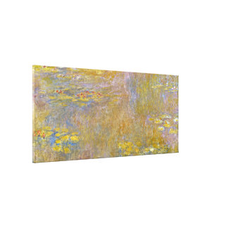 Claude Monet - Water Lilies ( Yellow Nirvana) Canvas Print