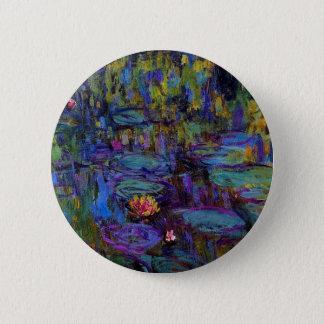 Claude Monet Water Lillies 1917 2 Inch Round Button