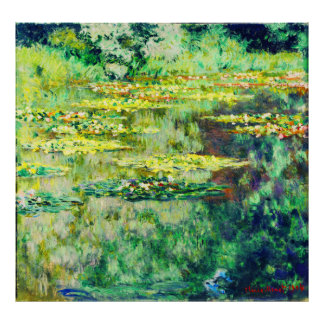 Claude Monet - Water Lillies - Bassin des Nympheas Poster