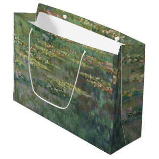 Claude Monet Water Lily Pond Fine Art GalleryHD Large Gift Bag