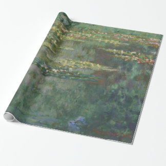 Claude Monet Water Lily Pond Fine Art GalleryHD Wrapping Paper