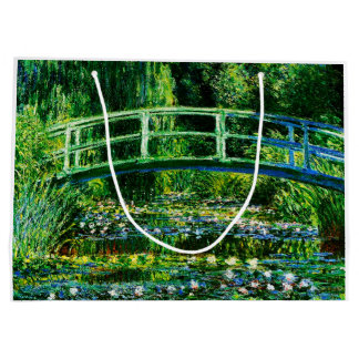 Claude Monet-Water-Lily Pond Large Gift Bag