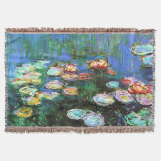 Claude Monet Water Lily Pond Throw Blanket