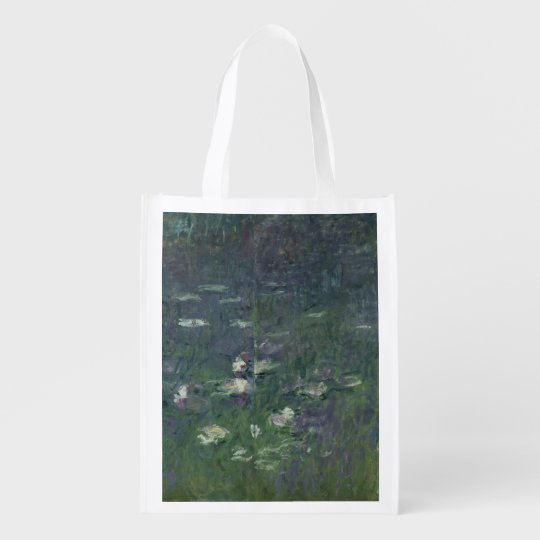 Claude Monet | Waterlilies: Morning, 1914-18 Reusable Grocery Bag