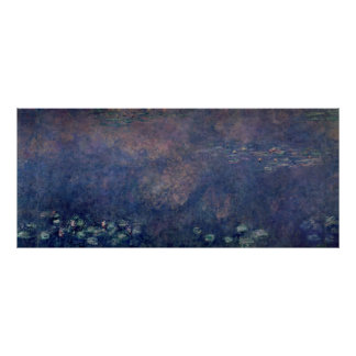 Claude Monet | Waterlilies: Weeping Willows centre Poster