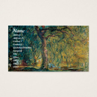 Claude Monet Weeping Willow Business Cards