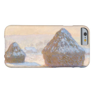 Claude Monet - Wheatstacks, Snow Effect, Morning Barely There iPhone 6 Case