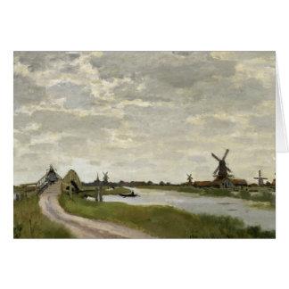 Claude Monet - Windmills Near Zaandam Card