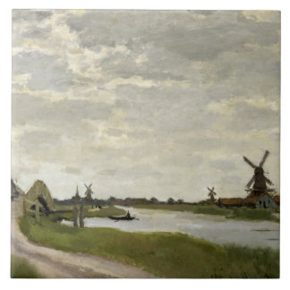 Claude Monet - Windmills Near Zaandam Ceramic Tiles