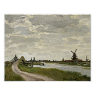 Claude Monet - Windmills Near Zaandam Poster