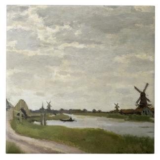 Claude Monet - Windmills Near Zaandam Tile