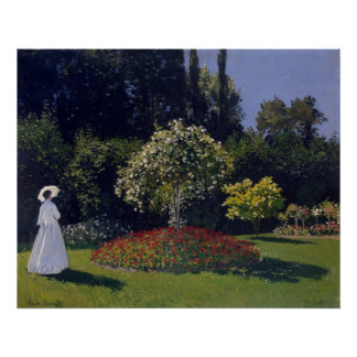 Claude Monet Woman in a Garden Poster