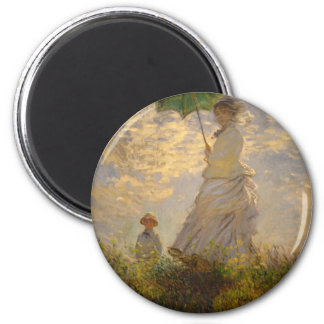 Claude Monet: Woman with a Parasol, 1875 Magnet