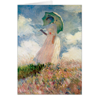Claude Monet - Woman with a Parasol Card