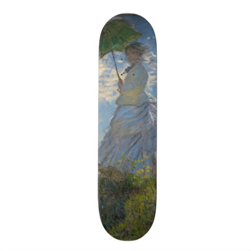 Claude Monet - Woman with a Parasol Custom Skate Board
