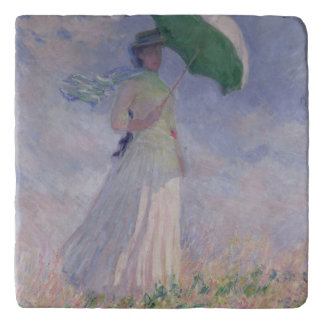 Claude Monet | Woman with a Parasol Turned Right Trivet
