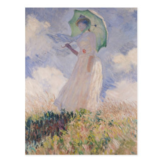 Claude Monet | Woman with Parasol Turned Left Postcard
