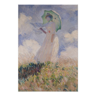 Claude Monet   Woman with Parasol Turned Left Poster