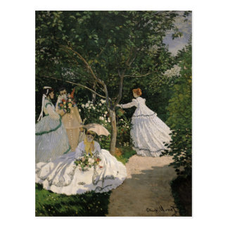 Claude Monet | Women in the Garden, 1866 Postcard