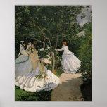 Claude Monet | Women in the Garden, 1866 Poster